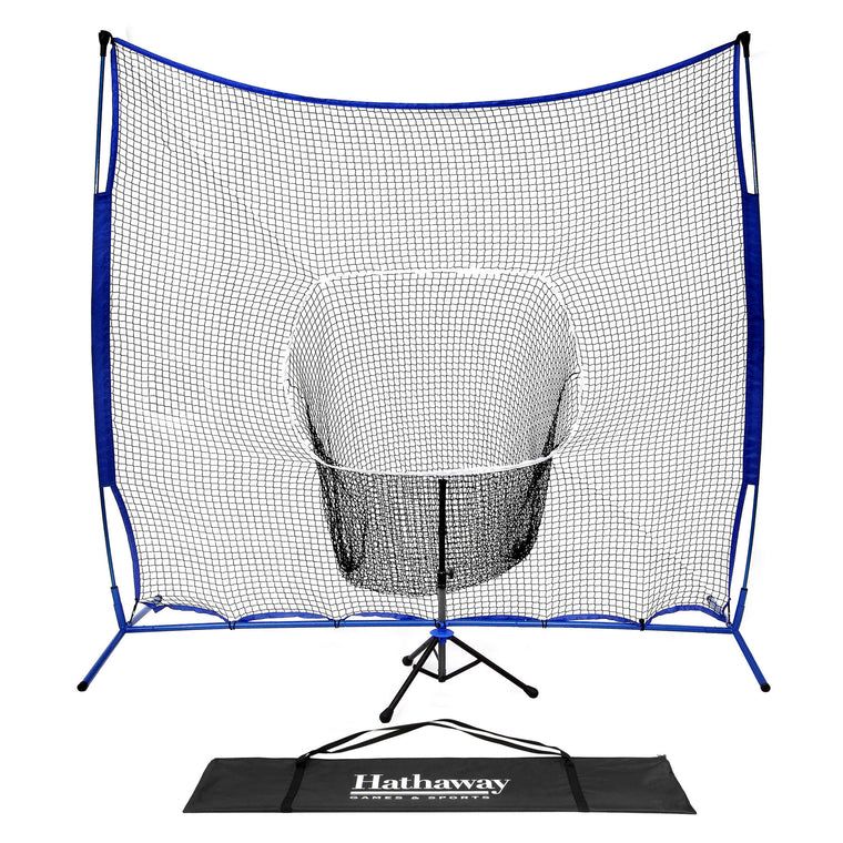 Hathaway Powerstroke Baseball/Softball Hitting Net System with Adjustable Tee