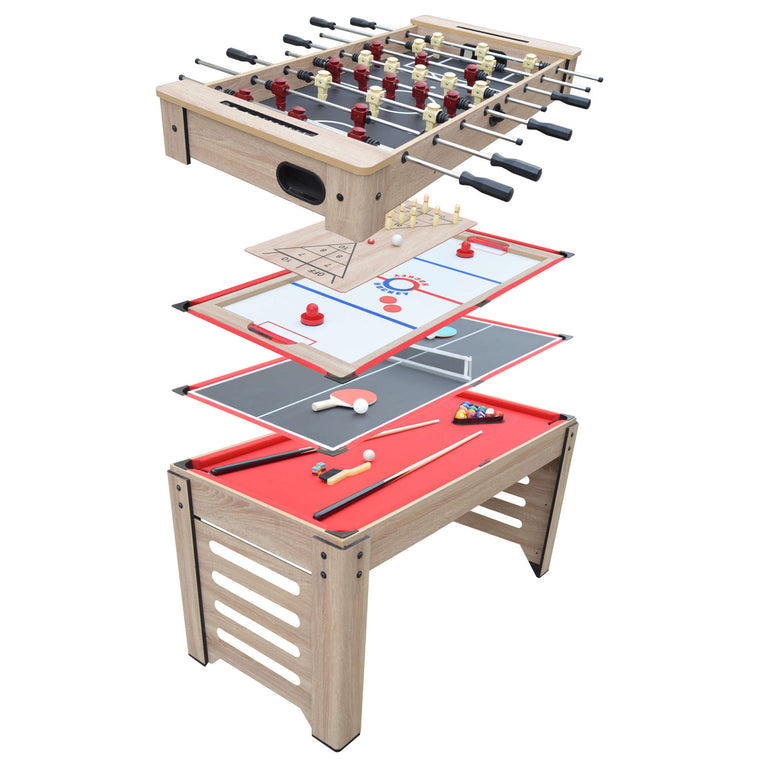 Hathaway Madison 54-in 6-in-1 Multi Game Table