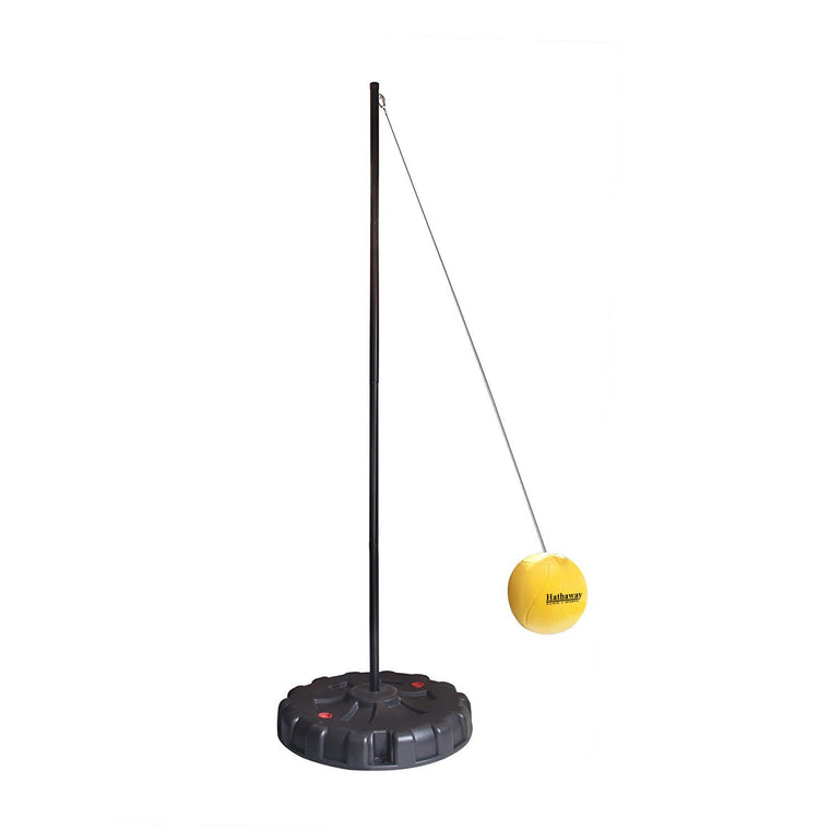 Hathaway Tetherball Set with Fillable Base – Black/Yellow