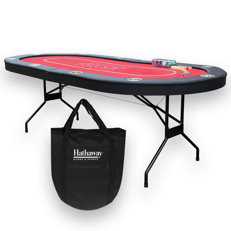 Hathaway Fourth Street Folding Texas Holdem' Table
