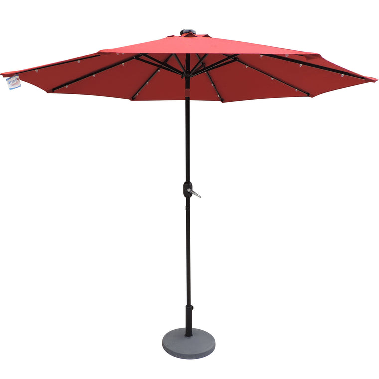 Island Umbrella Mirage Fiesta 9-ft Octagonal Market Umbrella - Red Olefin Canopy