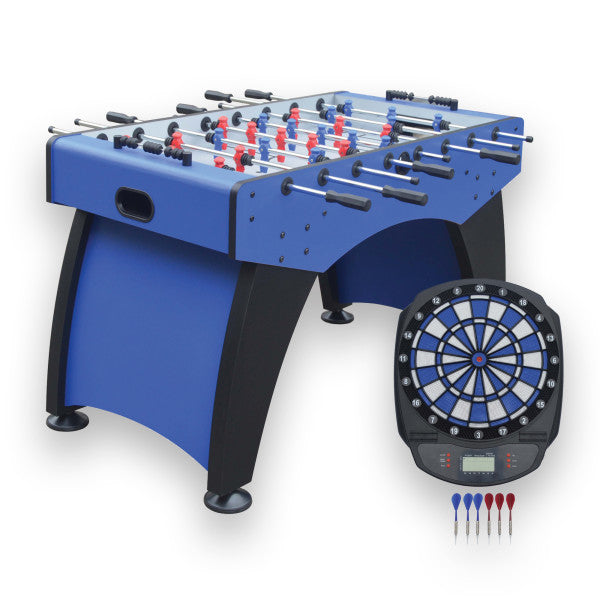 Hathaway Ventura 55-in Foosball Table with Bonus Electronic Dart Board