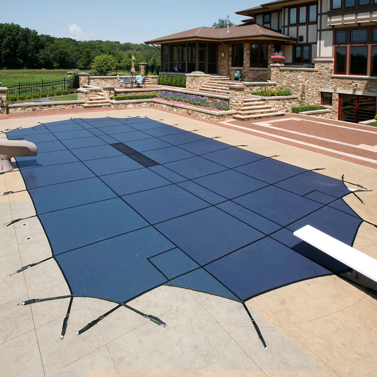 20-Year Ultra Light Solid In-Ground Pool Safety Cover w/ Step Section
