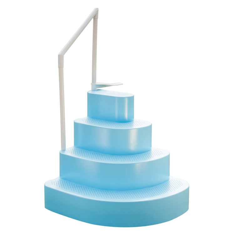 Blue Wave Wedding Cake Pool Step w/ Liner Step Pad