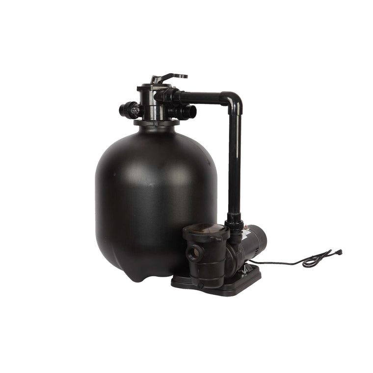 Sand Filter System for Above-Ground Pools w 1.5 HP Pump | 22-in 300-lb Sand Vol