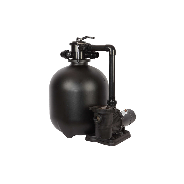 Sand Filter System for In-Ground Pools | 1HP, 22-in 300-lb - FlowXtreme