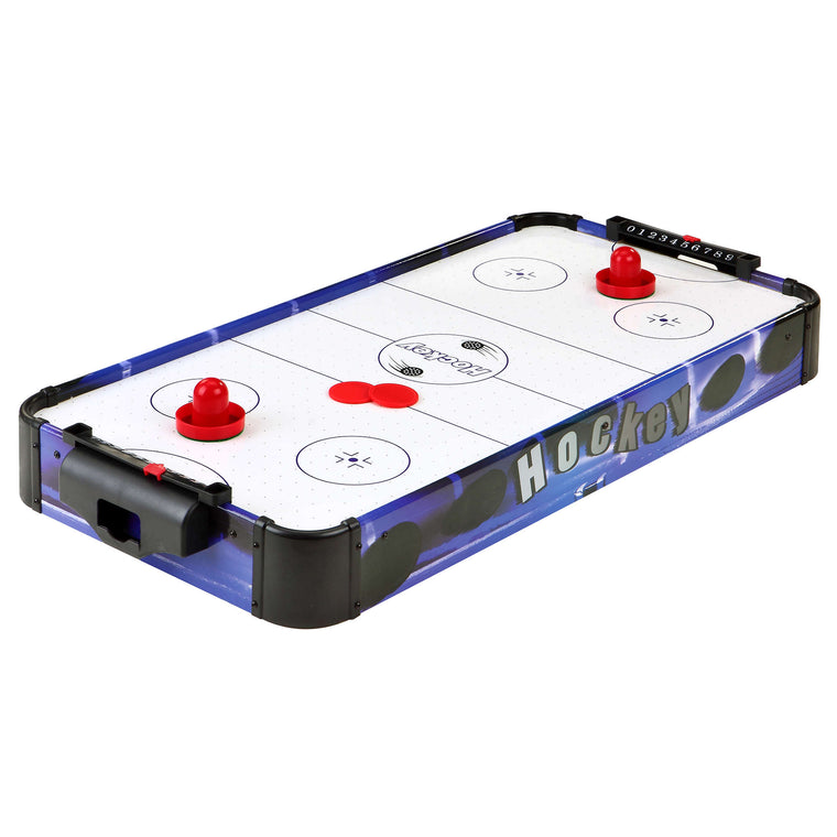 Carmelli Portable Table Top Air Hockey | Blue Line 32-in