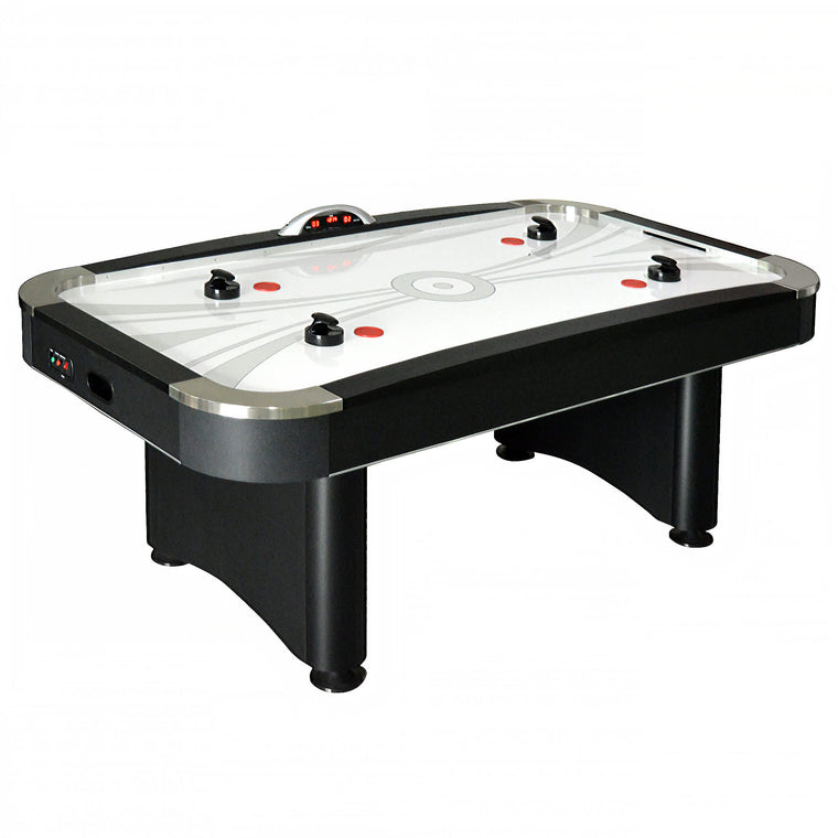 7-ft Air Hockey Table with LED Electronic Scoring | Hathaway Top Shelf