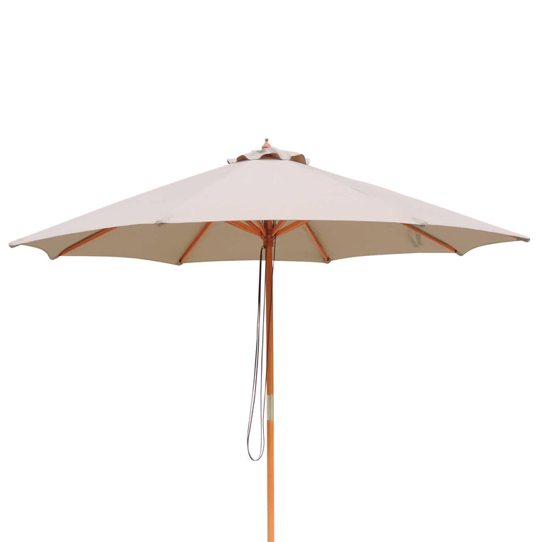 Island Umbrella Tranquility 9-ft Hardwood Market Umbrella in Olefin with Wind Vent
