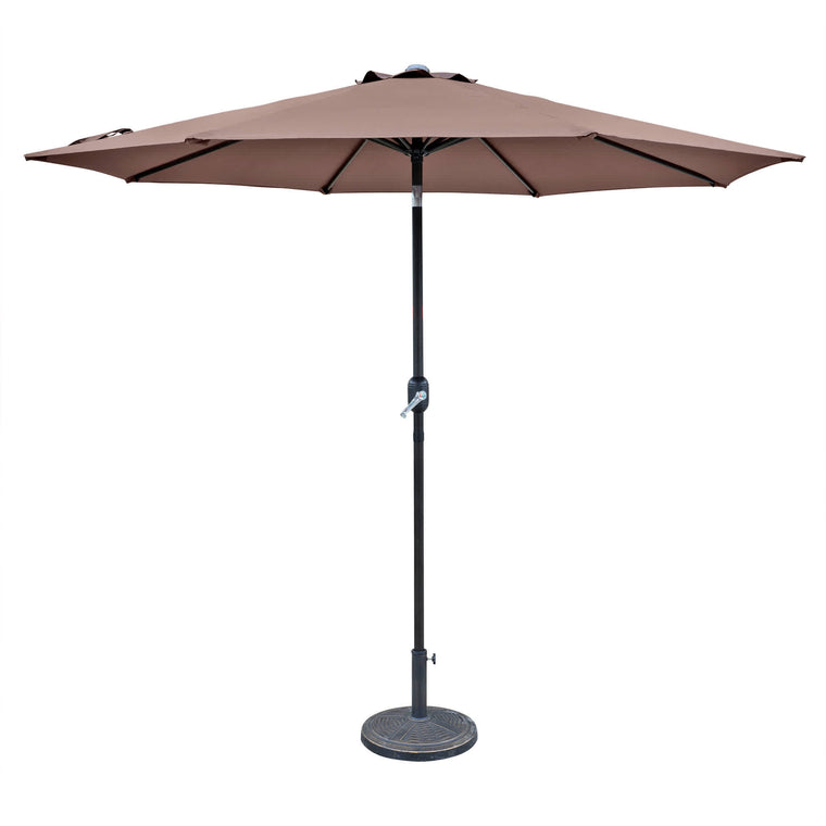 Island Umbrella Trinidad 9-ft Octagonal Market Umbrella in Polyester