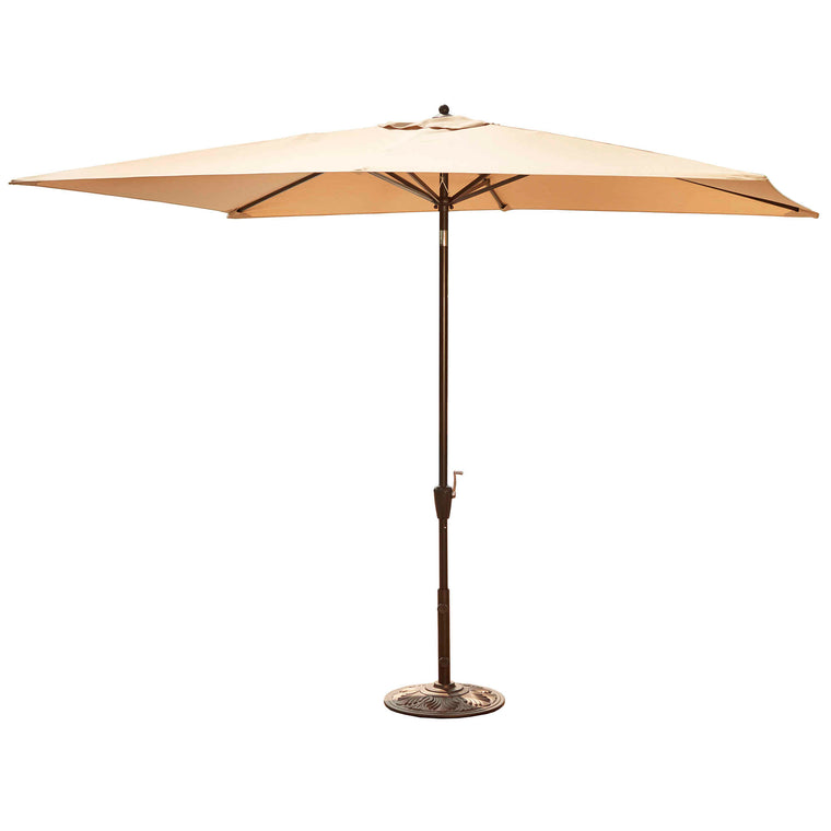 Island Umbrella Adriatic 6.5-ft x 10-ft Rectangular Market Umbrella in Sunbrella Acrylic