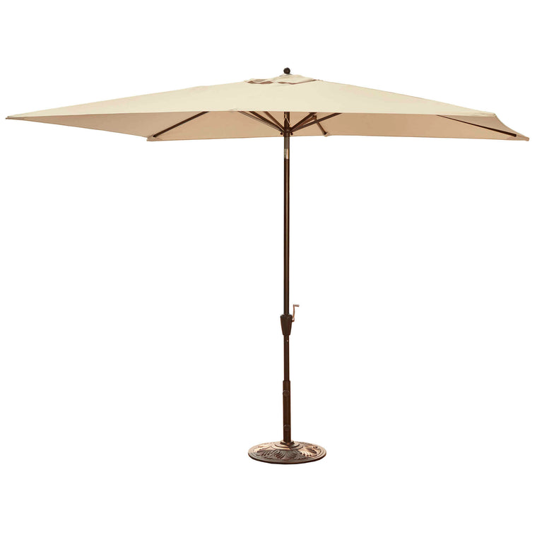 Island Umbrella Adriatic 6.5-ft x 10-ft Rectangular Market Umbrella in Olefin