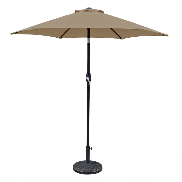 Island Umbrella Bistro 7.5-ft Hexagonal Market Umbrella with Olefin Canopy
