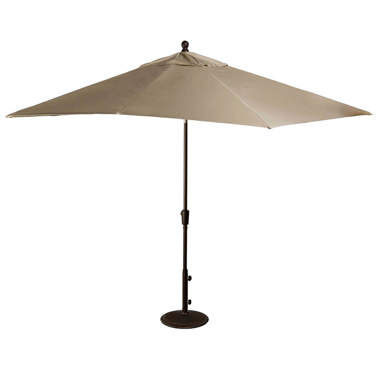 Island Umbrella Caspian 8-ft x 10-ft Rectangular Market Umbrella with Olefin Canopy