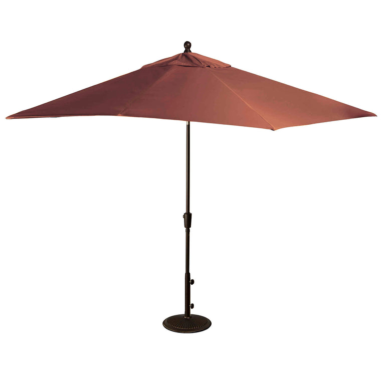 Island Umbrella Caspian 8-ft x 10-ft Rectangular Market Umbrella with Sunbrella Canopy