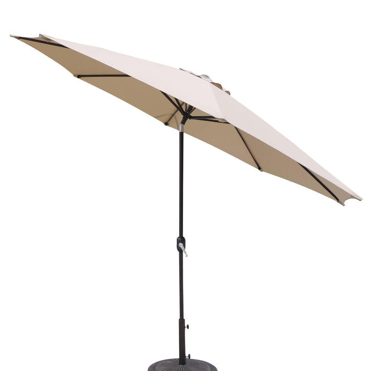 Island Umbrella Calypso 11-ft Octagonal Market Umbrella w/ Auto-Tilt in Olefin