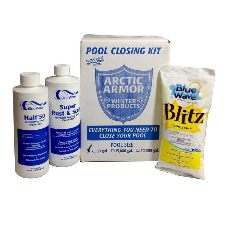 Blue Wave Chlorine Free Pool Winterizing Kit - Small to 7,500 Gallons
