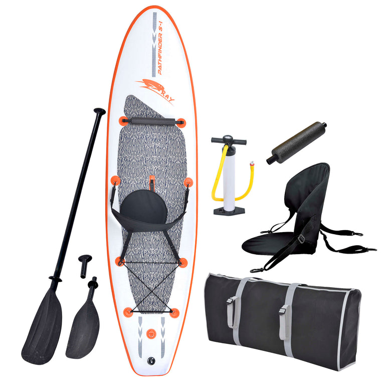 10-ft Inflatable Stand Up Paddleboard w/ Paddle & Hand Pump - Stingray