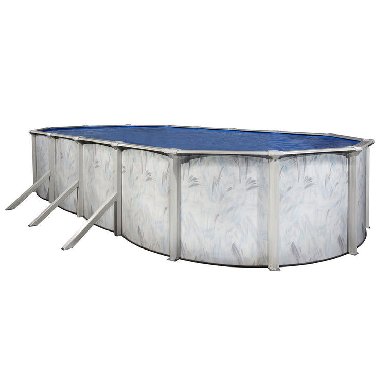 Sanibel Island Oval Steel Wall Pool w/ 6-in Toprail
