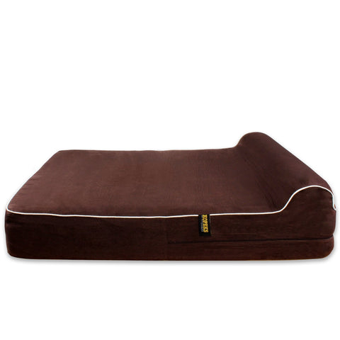 KOPEKS Dog Bed Replacement Cover ONLY - Brown - Large