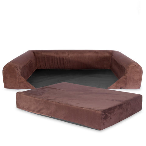 KOPEKS Sofa Bed Replacement Cover - Brown - Extra Large