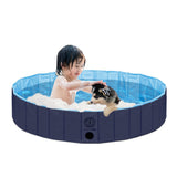 Pet Pool Outdoor Swimming Pool Bathing Tub Blue Size - Large