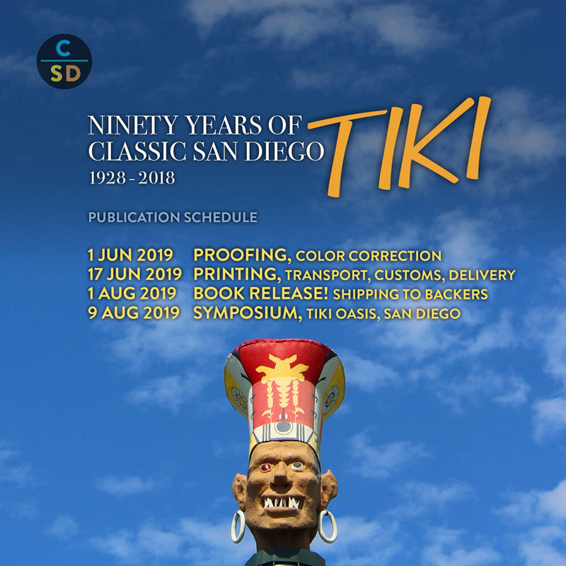 Tiki Book - Final Production Schedule