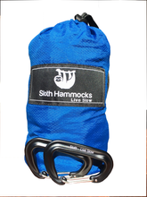 "Sloth ""Live Slow"" Ripstop Para-hammock with Carabiners and Tree Saving Straps"