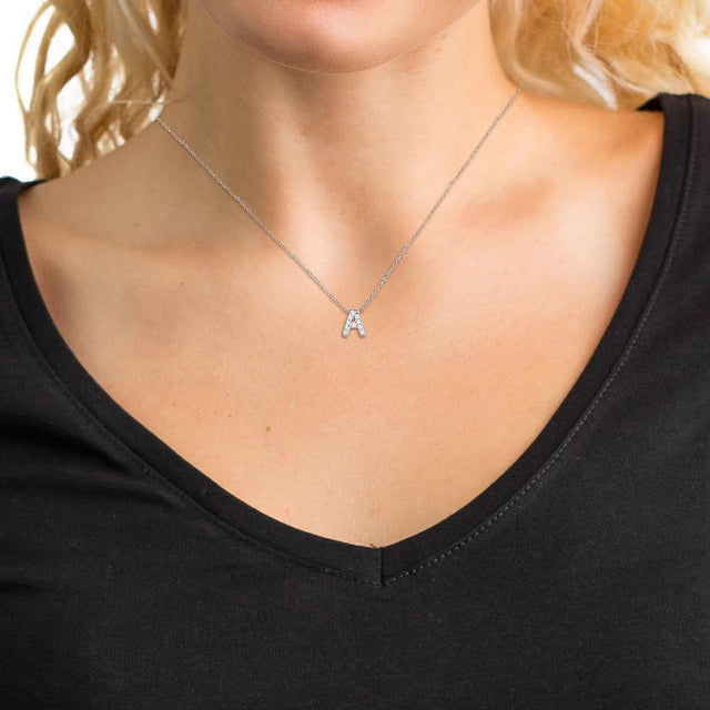 Diamond Initial Necklaces