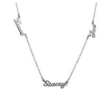 Personalized Silver Multi Script Name Necklace - MS43S