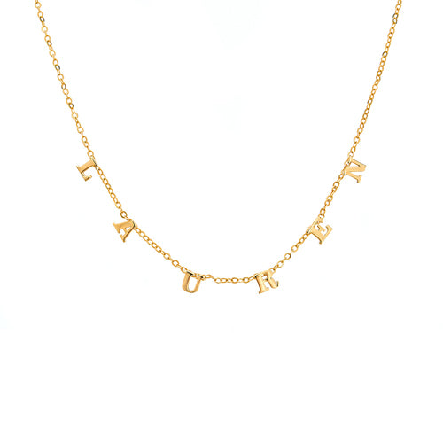 Personalized 14k Multi Letter Necklace - MG5500