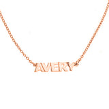 Personalized Single Block Name Necklace - MSNASB