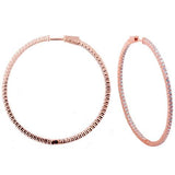 Inside & Out 2 Inch Round  Hoop Earrings - CZE142
