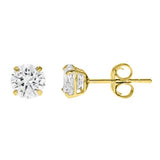 14k Gold CZ Studs 1.00 Carats Total Weight - CZE14K1