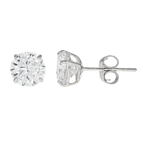 14k Gold CZ Studs  3 Carats Total Weight -  CZE14K3