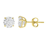 14k Gold CZ Studs 2.00 Carats Total Weight - CZE14K2