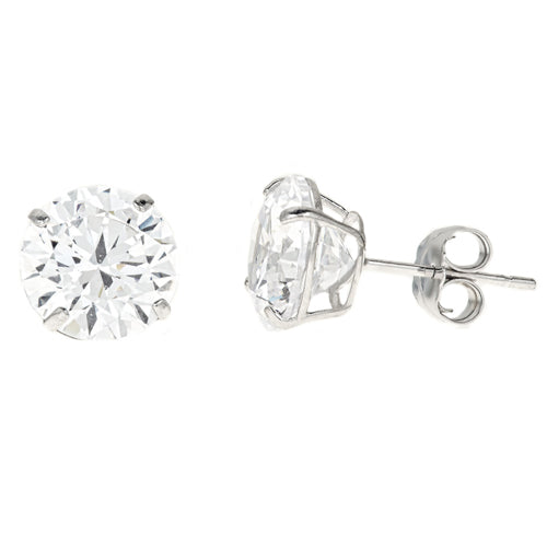 14k Gold CZ Studs 4.00 Carats Total Weight -  CZE14K4