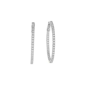 Inside & Out 1 Inch Round  Hoop Earrings -  CZE179