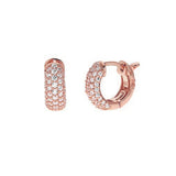 Pave Huggie Earrings - CZE235