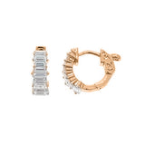 Baguette Huggie Earrings - CZE404