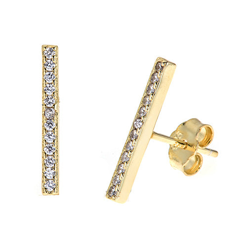 Bar Stud Earrings - CZE533
