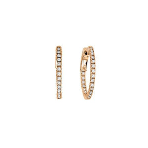 Inside & Out 3/4 Inch Round  Hoop Earrings - CZE79