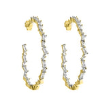 Inside / Out 2 Inch Baguette Hoop Earrings - CZE980