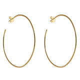 2 inch Hoop Earrings - CZE985