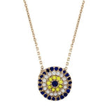 Mosaic Evil Eye Necklace - CZP66