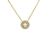 Small Cut out Cross Necklace - CZP2
