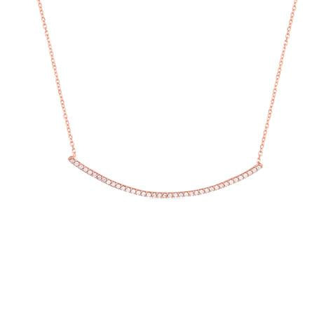 Curved Bar Necklace - CZP55
