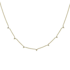 Multi Triangle Necklace - CZP63