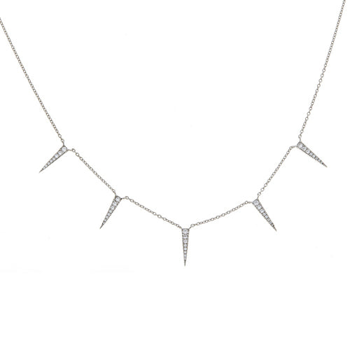 Multi Pave Spike Necklace - CZP64