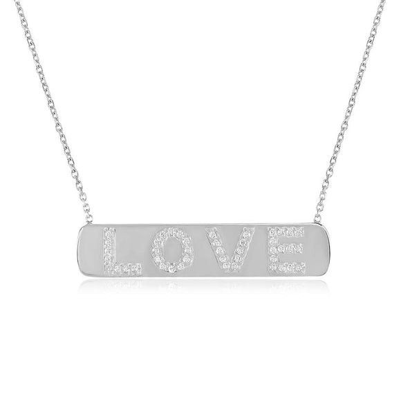 Love Bar Necklace - CZP96